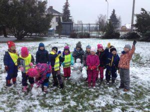 První dovádění ve sněhu