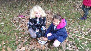 Podzimní dny na školní zahradě.